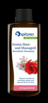 Aroma Haut- und Massageöl Rosenholz-Geranium